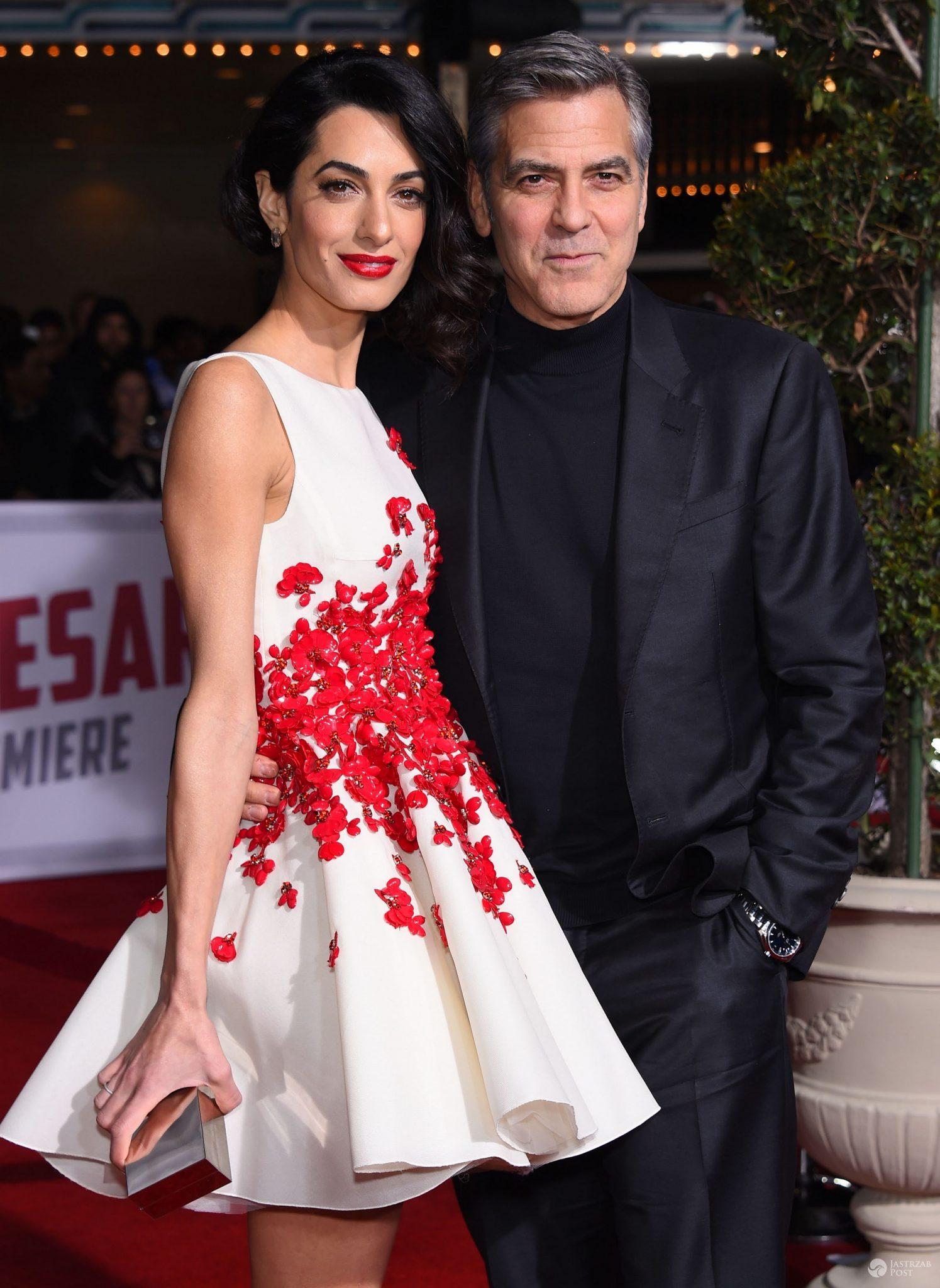 "George i Amal Clooney, premiera ""Ave, Cezar!"" (fot. ONS)"