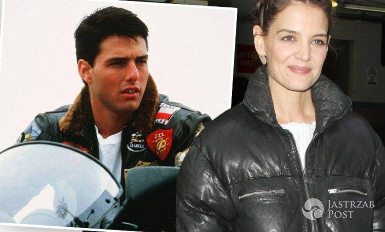 "Katie Holmes w kurtce pilotce jak Tom Cruise w ""Top Gun"" (fot. mat. pras., ONS)"