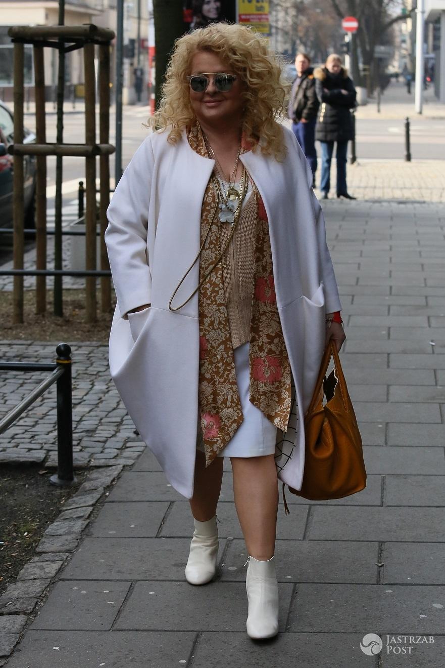 Magda Gessler przed studiem Dzień Dobry TVN