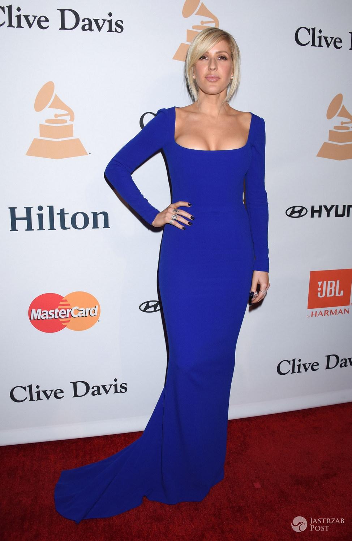 Gwiazdy na imprezie przed Grammy 2016: Ellie Goulding, Meghan Trainor, Lana Del Rey, Miranda Kerr i inni - .Ellie Goulding – Grammy 2016