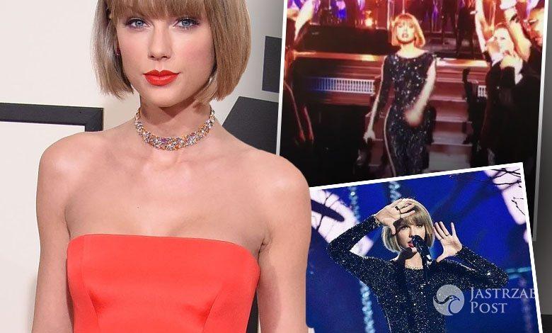 Kreacje i występ Taylor Swift na gali Grammy 2016 (fot. ONS, Instagram)