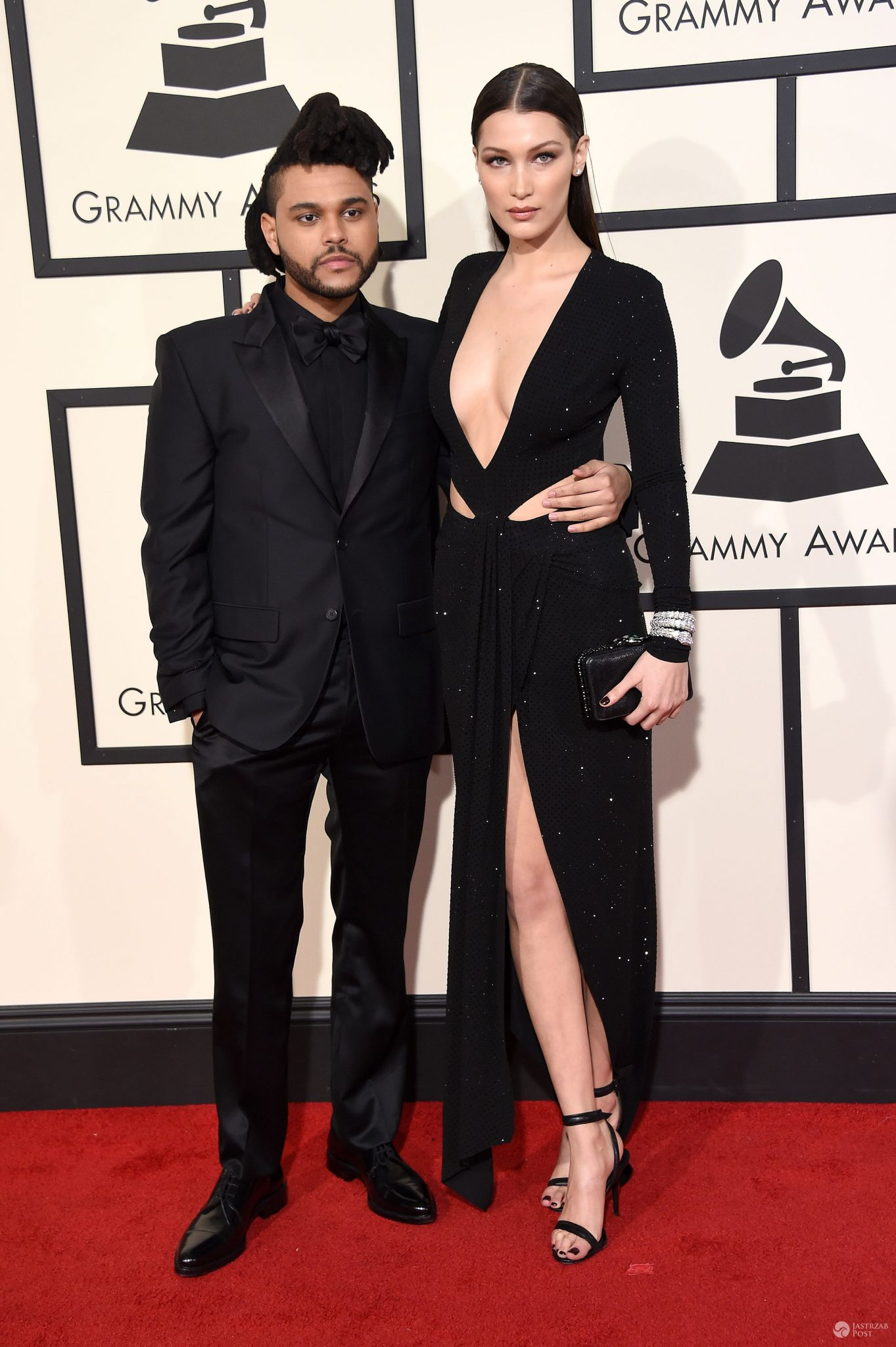 The Weeknd i jego dziewczyna Bella Hadid, Grammy 2016 (fot. ONS)