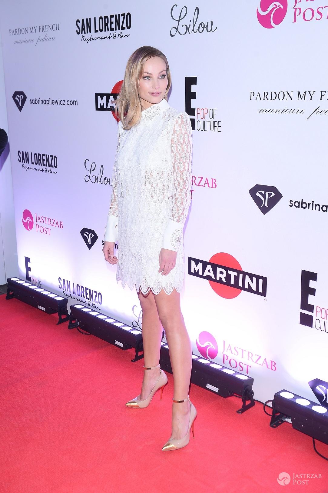 Weronika Książkiewicz - Impreza oskarowa 2016 z E! Entertainment, Martini i Jastrząb Post