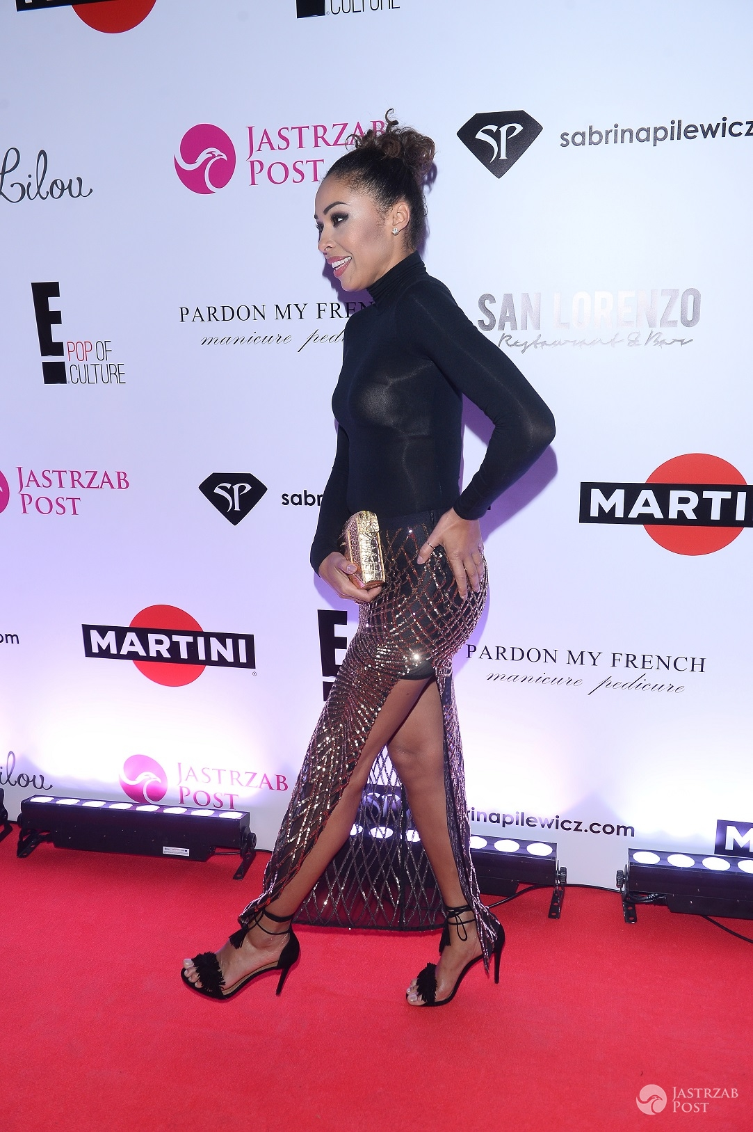 aOmenaa Mensah - Impreza oskarowa 2016 z E! Entertainment, Martini i Jastrząb Post