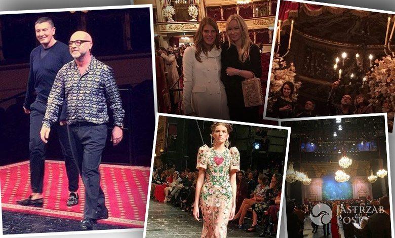 Pokaz kolekcji Dolce & Gabbana haute couture wiosna-lato 2016 (fot. Instagram Joanna Przetakiewicz, Anna Dello Russo)