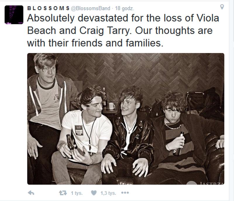 Nie żyją wszyscy członkowie zespołu Viola Beach
