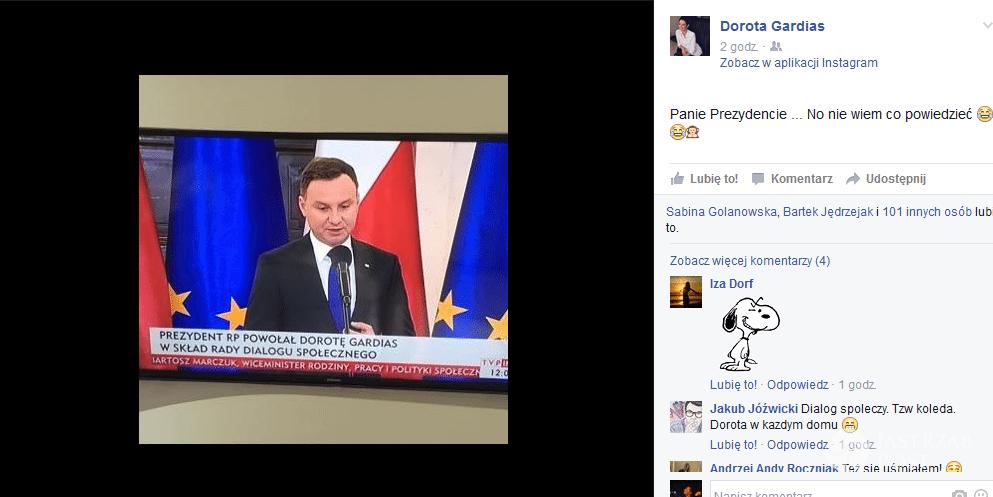 Wpadka TVP Info z Andrzejem Dudą i Dorotą Gardias