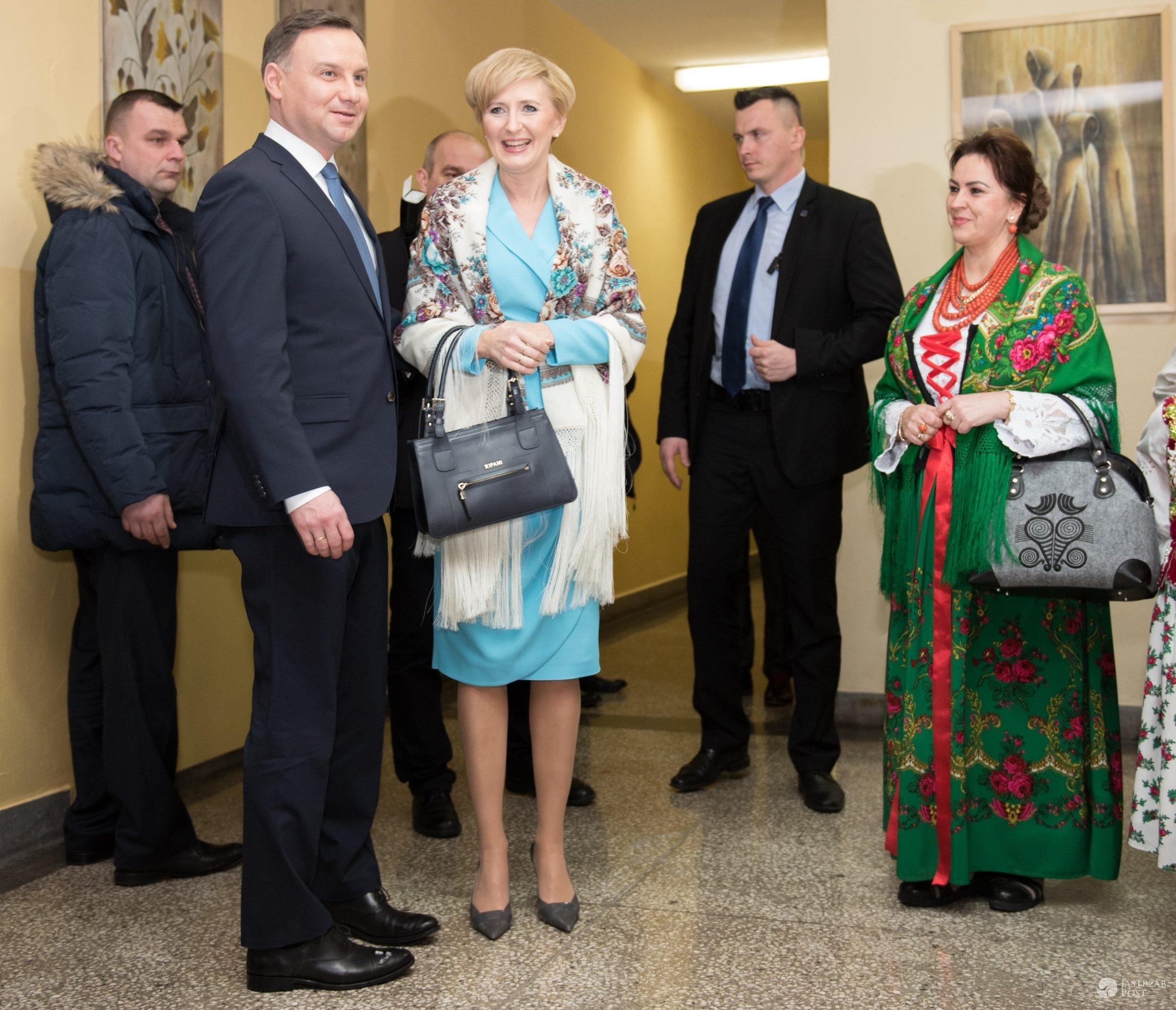 """Agata Duda z mężem, """"Dudaskie ostatki"""", Zakopane (fot. East News)"""