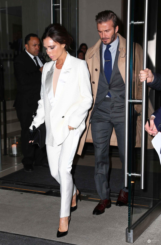 David i Victoria Beckham wybrali się przed walentynkami na kolację (fot. East News)