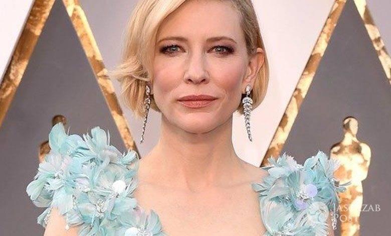 Suknia: Armani Privé, buty: Giuseppe Zanotti, torebka: Roger Vivier, biżuteria: Tiffany. Cate Blanchett, Oscary 2016 (fot. East News)