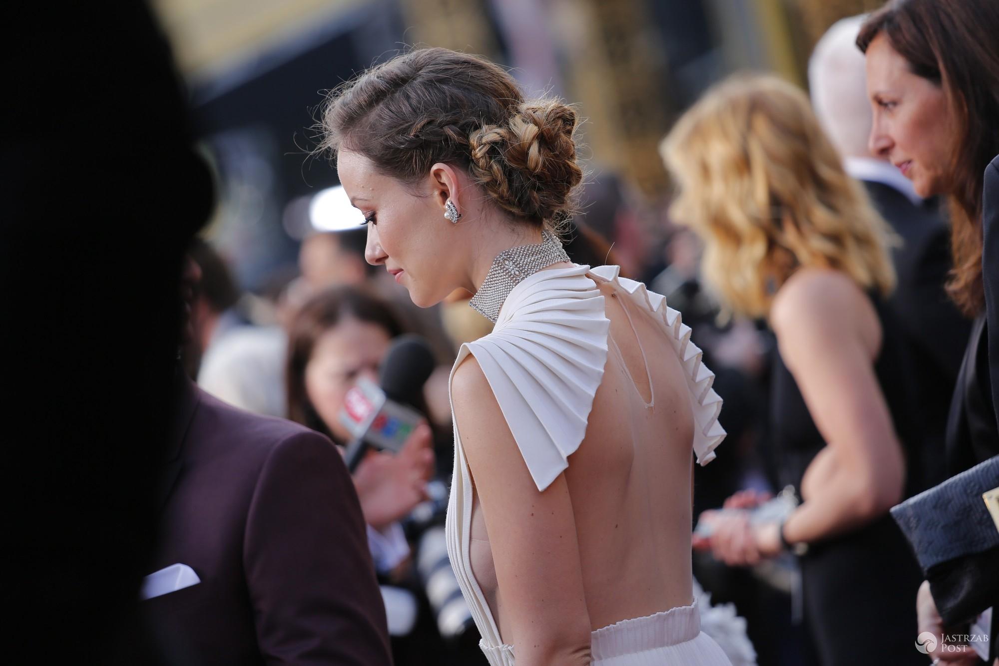 Suknia: Valentino Haute Couture, biżuteria Neil Lane. Olivia Wilde, Oscary 2016 (fot. East News)