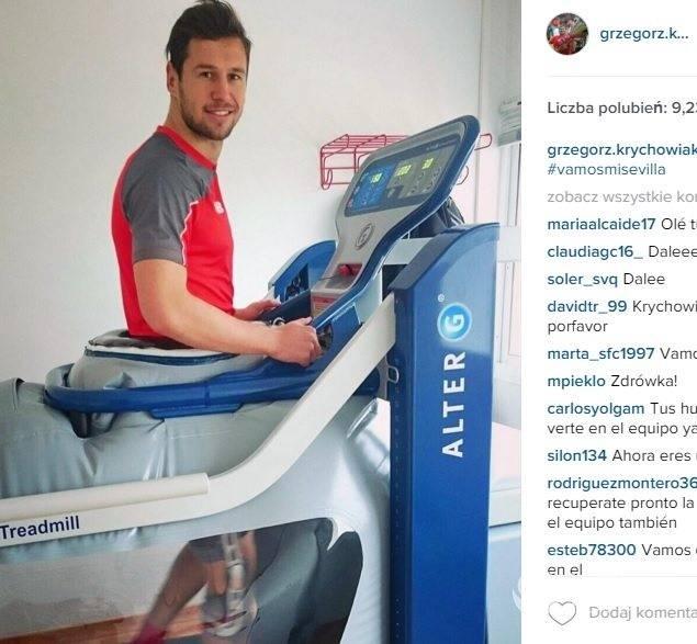 Grzegorz Krychowiak wraca do gry po kontuzji kolana