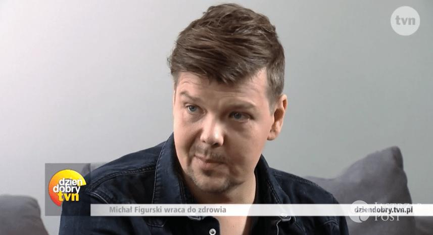 Michał Figurski w pierwszym wywiadzie po chorobie/ żródło: Dzień Dobry TVN