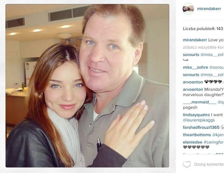 Miranda Kerr z tatą