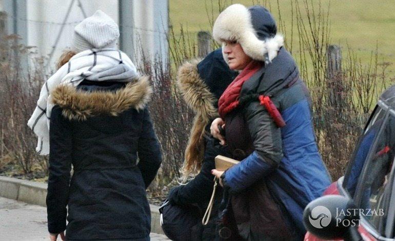 Katarzyna Figura z córkami w stadninie koni