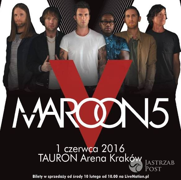 Maroon 5 dadzą koncert w Polsce. Ceny biletów już od 199 złotych