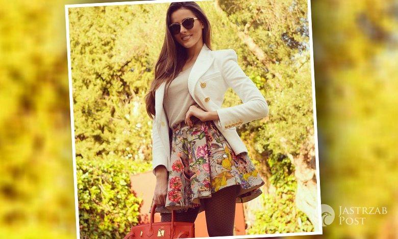 Celia Jaunat w spódnicy w kwiaty od polskiej projektantki Sylwii Majdan (fot. Instagram)