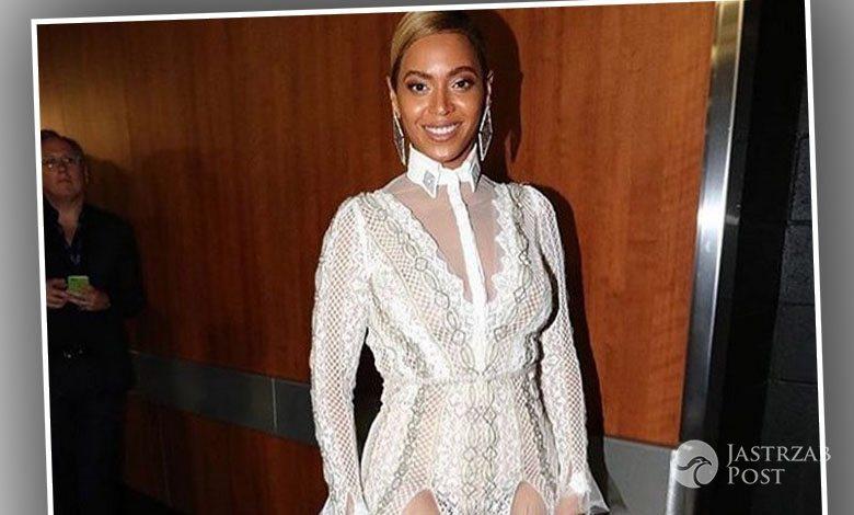 Suknia: Inbal Dror, kolczyki: Lorraine Schwartz. Beyonce, Grammy 2016 (fot. Instagram)