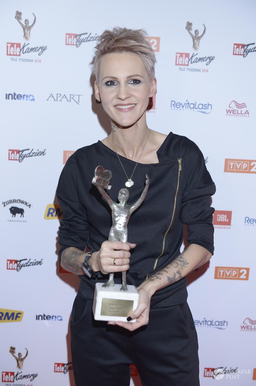 Agnieszka Chylińska ze Złotą Telekamerą 2016