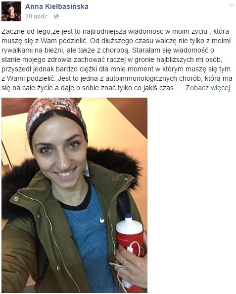 Anna Kiełbasińska jest chora. Na co?