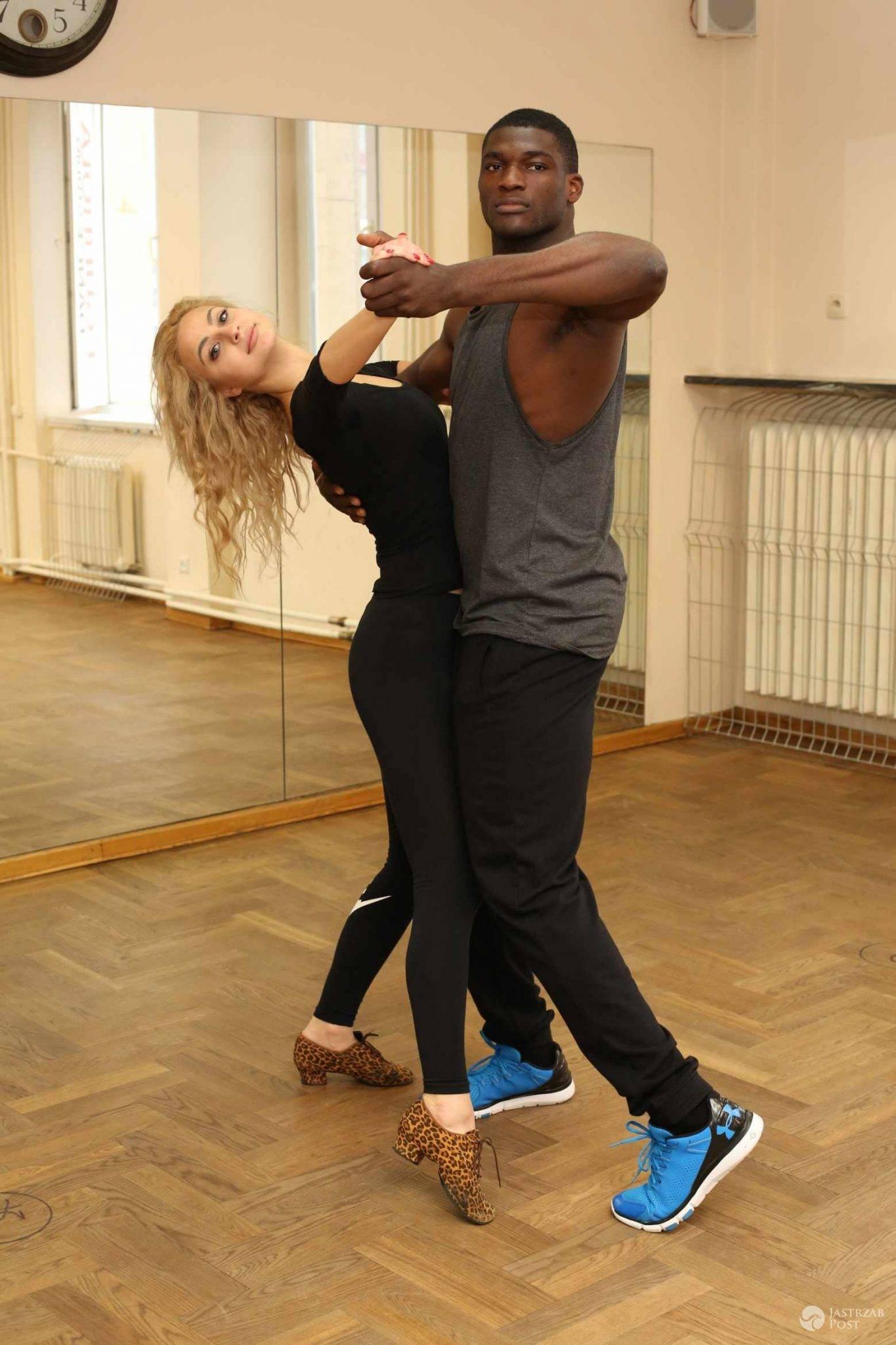 Izuagbe Ugonoh i Hanna Żudziewicz na treningu przed