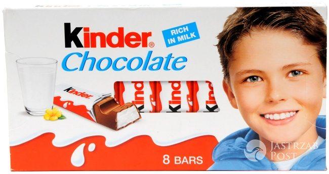 Josh Bateson na opakowaniu Kinder Chocolate