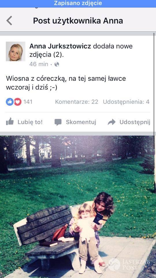 Anna Jurksztowicz zdjęcie z córką