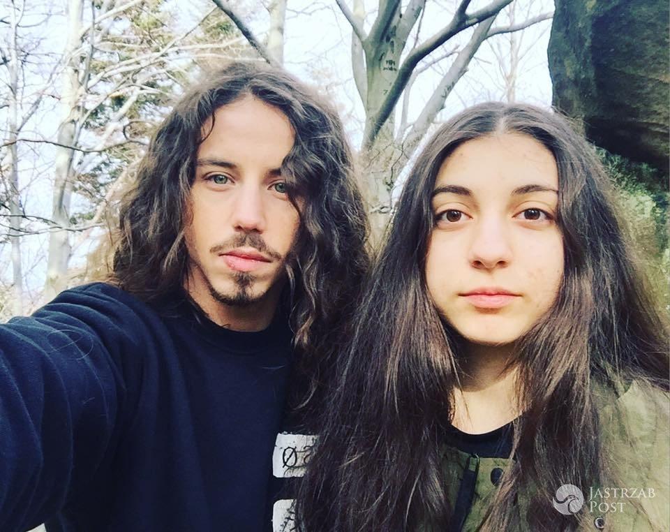 Michał Szpak z młodszą siostrą Ewą