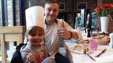 Mateusz Gessler i córka Justyny Tomańskiej - Zosia w Warszawie Wschodniej