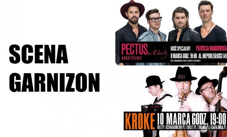 Zespół Pectus i KROKE na scenie Garnizon