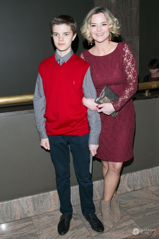 Monika Zamachowska z synem Tomaszem Malcolmem zdjęcia