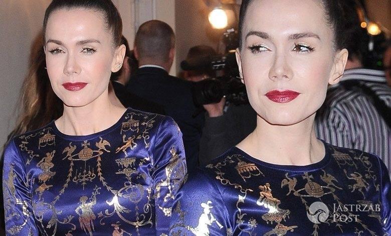 Sukienka i buty: Vivienne Westwood, torebka: Versace. Olga Bołądź, Orły 2016 (fot. ONS)