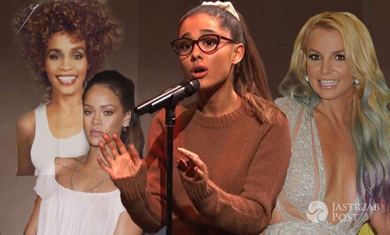 Ariana Grande naśladuje gwiazdy