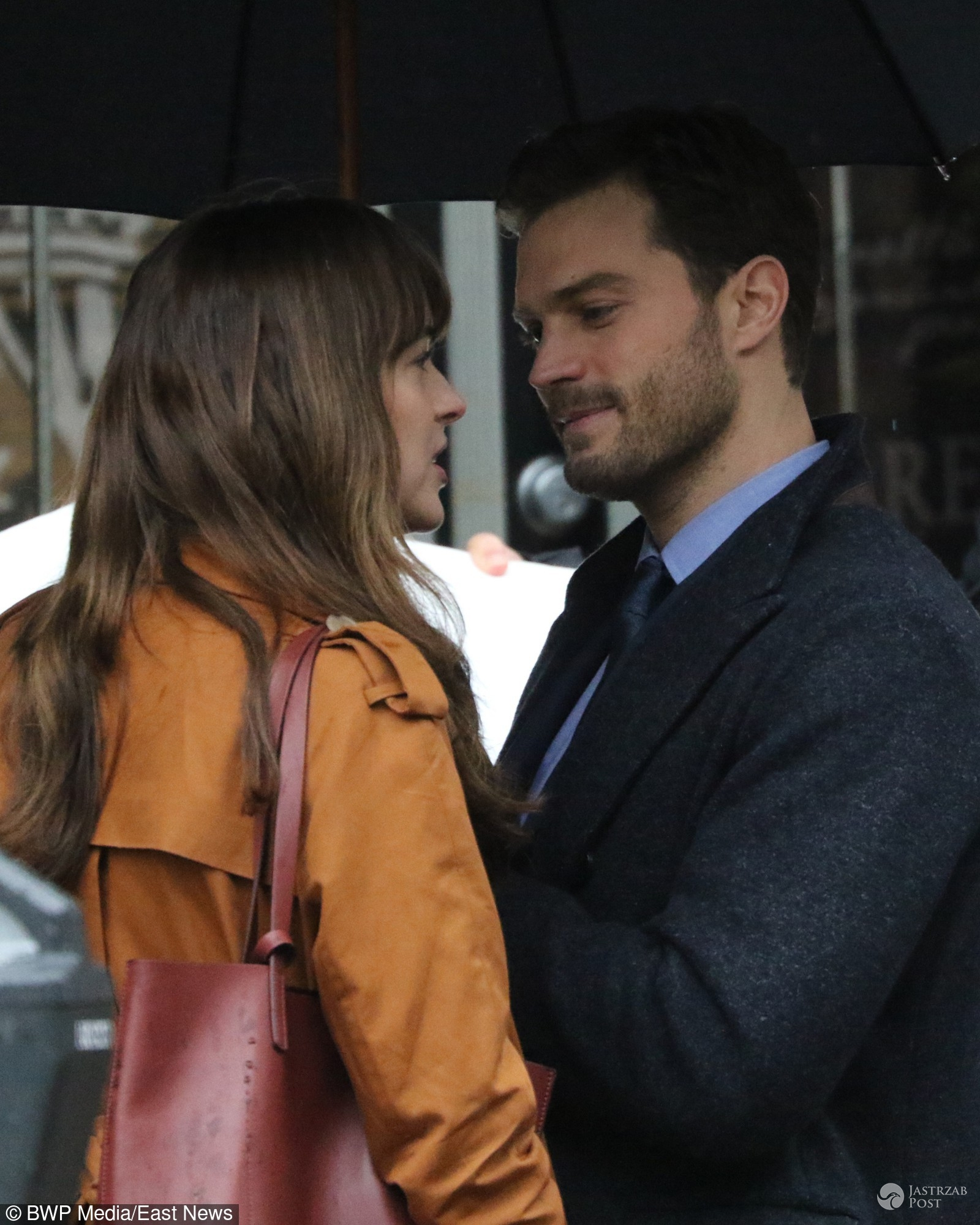 Jamie Dornan i Dakota Johnson na planie