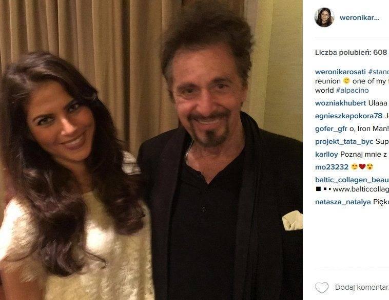Weronika Rosati spotkała się z Alem Pacino