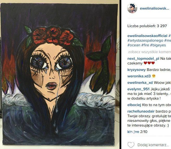 Ewelina Lisowska ma talent malarski