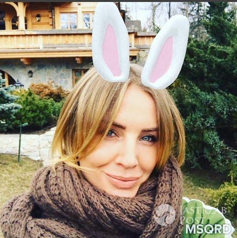 Agnieszka Szulim przebrana za zająca