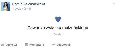 Dominika Zasiewska wyszła za mąż
