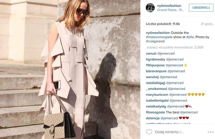 Jessica Mercedes podczas tygodnia mody w Mediolanie zauważona przez The New York Times (fot. Instagram)