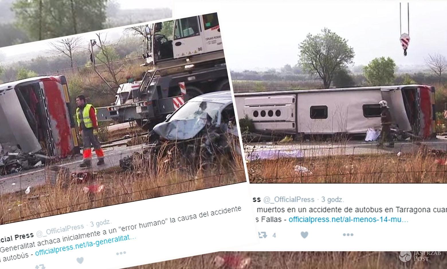 Wypadek autokaru ze studentami w Hiszpanii