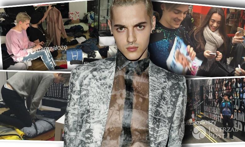 Radek Pestka na Fashion Week w Londynie