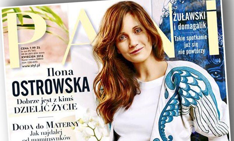 Ilona Ostrowska w ciąży na okładce