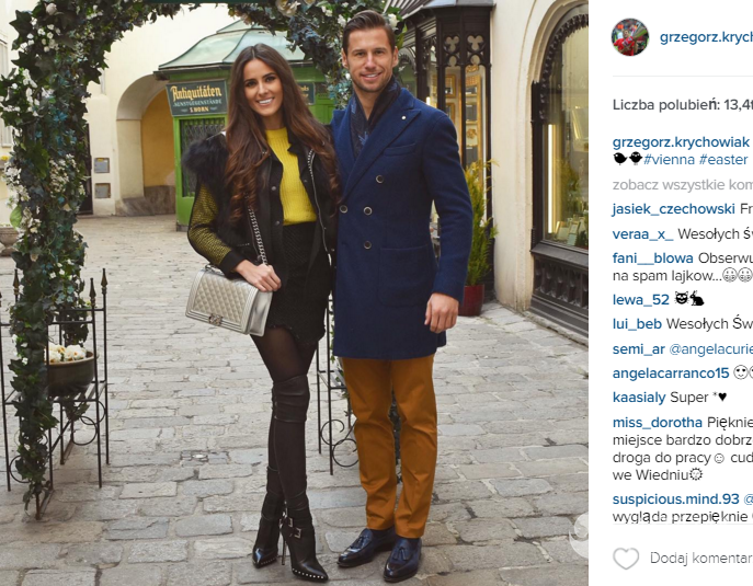 Grzegorz Krychowiak i Celia Jaunat spędzają Wielkanoc we Wiedniu