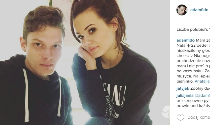 Adam Fidusiewicz i Natalia Szroeder nie są razem