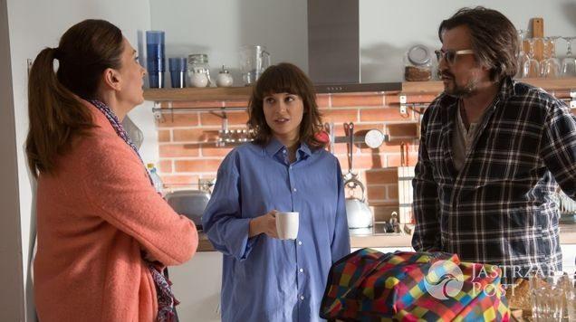 Na dobre i na złe odc 629, Lena (Anita Sokołowska), Witek (Bartosz Opania), Julka (Aleksandra Hamkało)