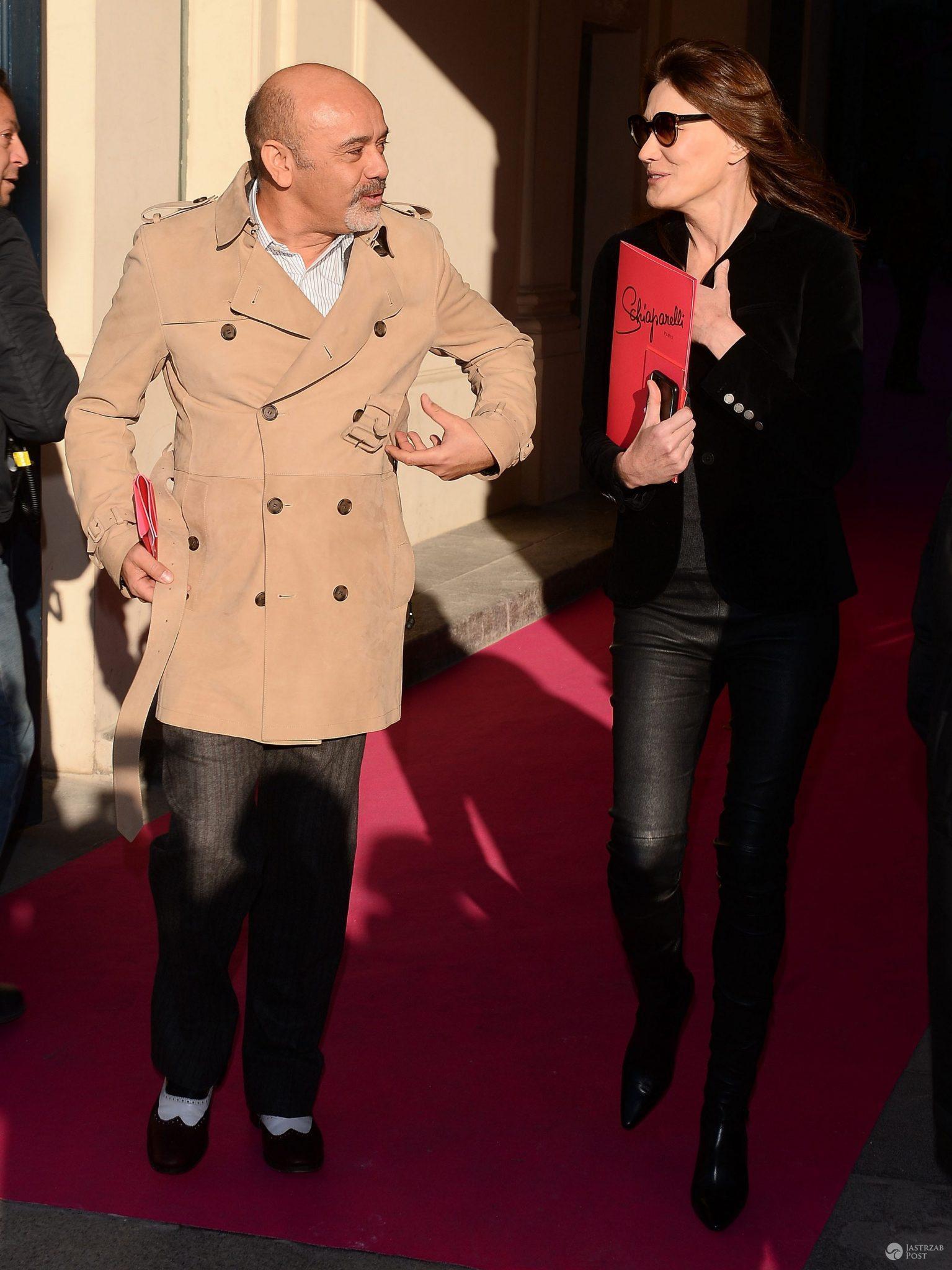 Christian Louboutin i Carla Bruni (fot. ONS)