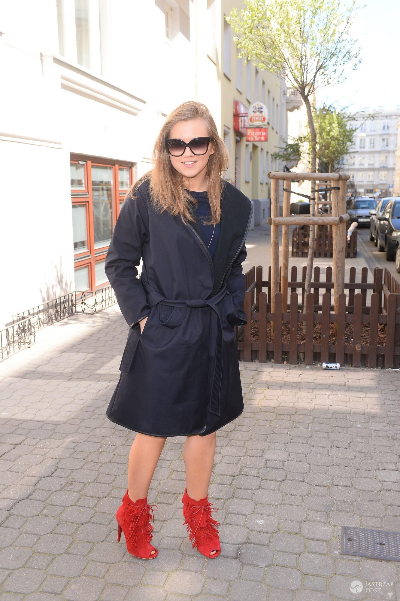 Agnieszka Kaczorowska na prezentacji kolekcji Halens