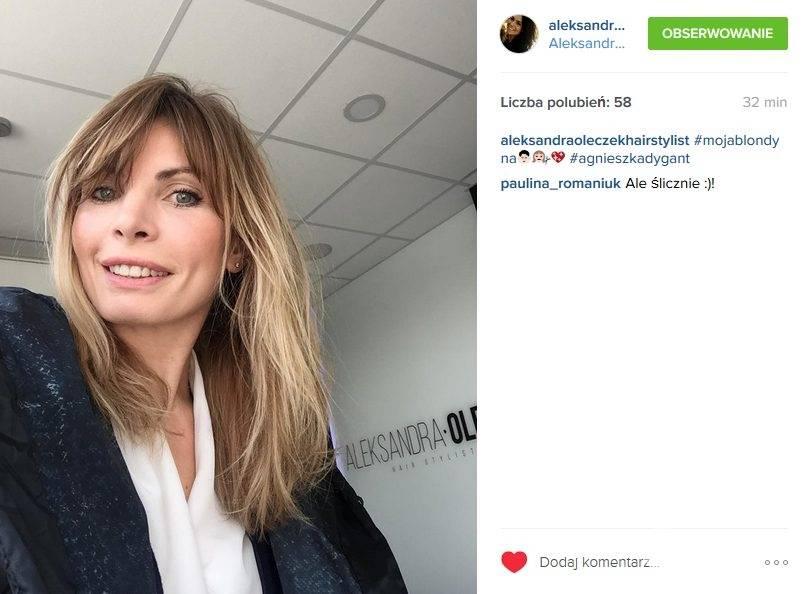 Nowa fryzura Agnieszki Dygant. Teraz jest blondynką (fot. Instagram)