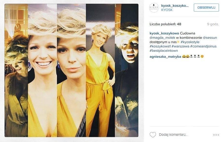 Magda Mołek w kombinezonie (fot. Instagram)