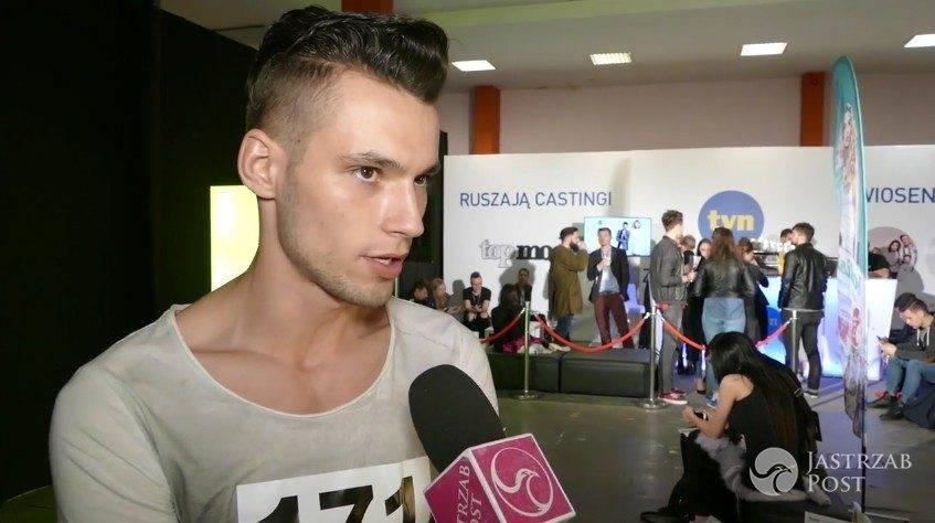 """Janek Barański na pre-castingu do """"Top Model 6"""" w Łodzi"""